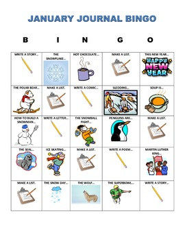 JANUARY JOURNAL BINGO