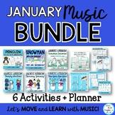January Winter Music Lesson Bundle: Songs, Games, Activiti