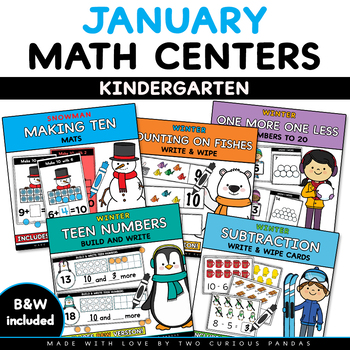 JANUARY - Math Centers - Winter Edition