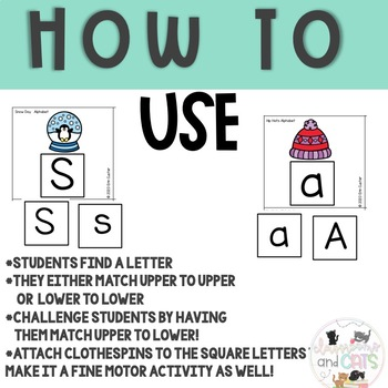 JANUARY  Monthly Alphabet Letter Recognition Games