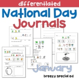 JANUARY National Days Differentiated Journals for special