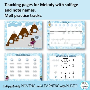 "Kodaly Song: ""January, January"" Lessons, Worksheets, Mp3 Tracks"
