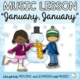 """Music Kodaly & Orff Lesson: """"January, January"""" Song, Rhythms, Notes, Mp3 Tracks"""