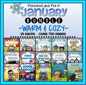 JANUARY Themes Curriculum BUNDLE for Preschool and Pre-K