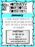 JANUARY bundle! Vocabulary PowerPoints match Rooted in Reading 3rd Grade Books