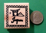 JAPAN Country/Passport Rubber Stamp