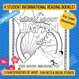 JAPAN - Learn About Japan Booklet Nonfiction Country Study
