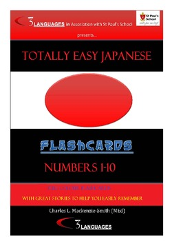 JAPANESE NUMBERS FLASH CARDS