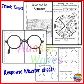 Greek Myth JASON and the ARGONAUTS Text & Task Cards Reading Comprehension