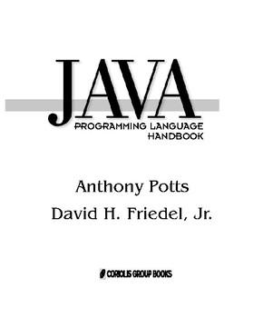 "JAVA PROGRAMMING LANGUAGE & ""handbook"""