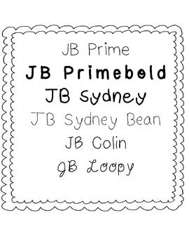 JB Fonts 1