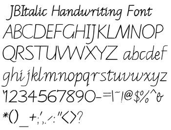 JB Italic Handwriting True Type Font