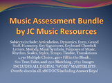 Ultimate Music Multiple Choice Test Question Bank HS Bundle, Plus 78 Tests