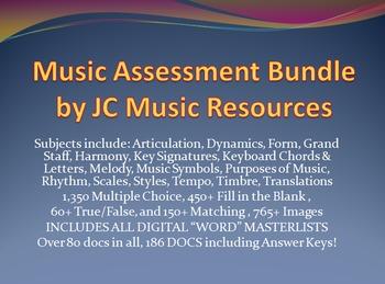 Ultimate Music Multiple Choice Test Question Bank HS Bundl