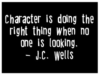 J.C. Wells character quote
