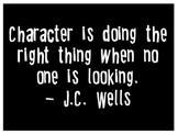 J.C. Wells character quote