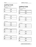 JCS Spelling Template