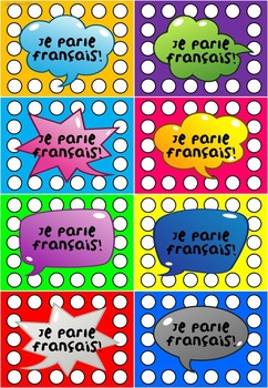 *FREEBIE* FRENCH SPEAKING PUNCH CARDS - JE PARLE FRANCAIS!