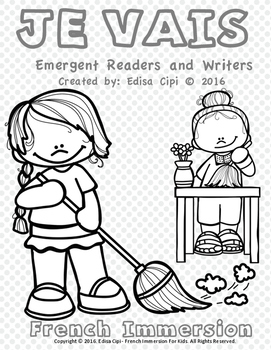 JE VAIS BOOKLET! French Emergent Readers & Writers! Check