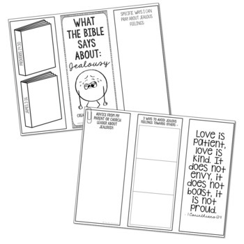JEALOUSY: Bible Activity for Teens, Brochure Project, Interactive Lesson
