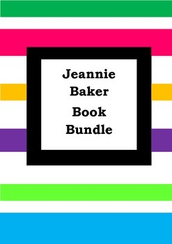 JEANNIE BAKER BOOK BUNDLE - Worksheets - Picture Book Literacy
