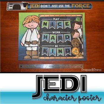 JEDI CHARACTER POSTER {Star Wars Classroom}