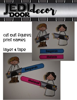 JEDI Door Decor {for your Star Wars Classroom}