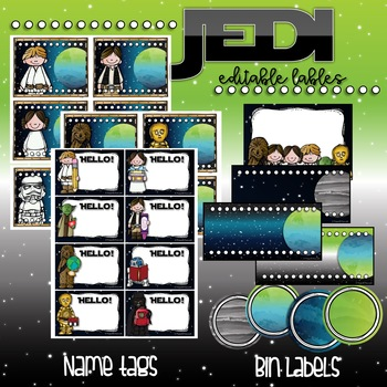 JEDI EDITABLE LABELS {for your Star Wars Classroom}