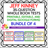 JEFF KINNEY | 35-QUESTION WHOLE BOOK TESTS | BUNDLE OF 4