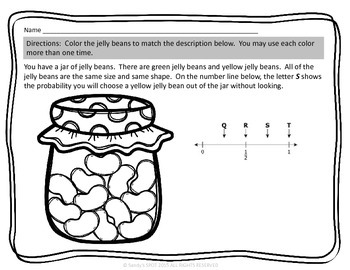 JELLY BEAN PROBABILITY Virginia SOL 4.13 NUMBER LINE MODELS