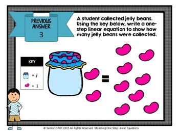 JELLY BEAN SPRING  Scavenger Hunt One-Step Linear Equations Virginia SOL 5.18