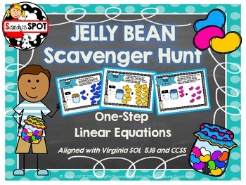 JELLY BEAN SPRING  Scavenger Hunt One-Step Linear Equation