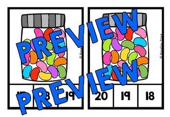 JELLYBEANS COUNTING CENTER: KINDERGARTEN COUNTING CLIP CARDS: NUMBERS 1-20
