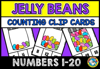 JELLYBEANS COUNTING CENTER: KINDERGARTEN COUNTING CLIP CAR