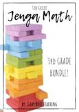 JENGA Math Games BUNDLE- 3rd Grade!