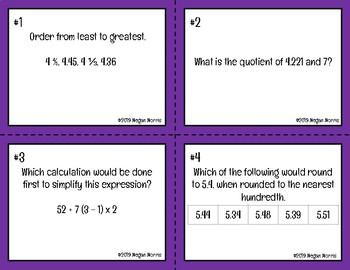 JENGA Virginia SOL Aligned 5th Grade Math Review (2016)