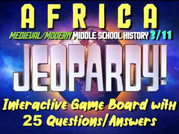 JEOPARDY! Africa Jeopardy