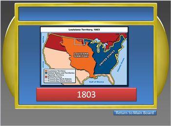 JEOPARDY GAME-U.S. Presidents: Washington,Adams,Jefferson,Madison,Monroe,Jackson