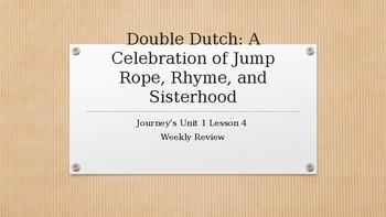 "JEOPARDY Houghton-Mifflin Journey's Unit 1 Lesson 4 ""Double Dutch"""