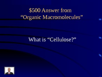 JEOPARDY! Organic Macromolecules, Acids/Bases, Enzymes, and More!