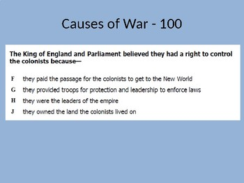JEOPARDY REVIEW GAMES - American Revolution (SOL USI.6)