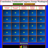 JEOPARDY REVIEW:  Principles in Constitution & G. Washingt