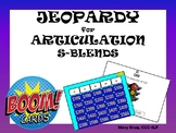 JEOPARDY for ARTICULATION: S-Blends! BOOM Cards!