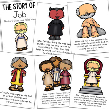 JOB Bible Story Coloring Pages | Easy Craft