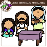 JESUS VISITS MARY AND MARTHA {free}