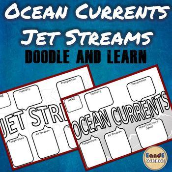JET STREAM & OCEAN CURRENT SCIENCE DOODLE NOTES
