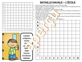 JEU - BATAILLE NAVALE - L'ÉCOLE