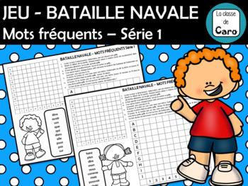 JEU - BATAILLE NAVALE (TOUCHÉ ÉCOULÉ) Mots fréquents Série #1
