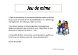 JEU DE MIMES - DESCRIPTIONS DE CÉLÉBRITÉS