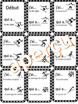 JEU - J'ai... Qui a... Sports olympiques d'hiver (French - FSL)